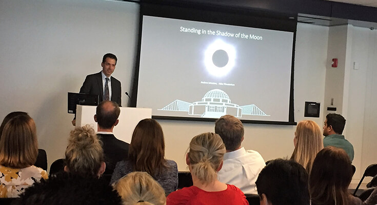 Adler Planetarium's Dr. Andrew Johnston, Vice President of Astronomy & Research