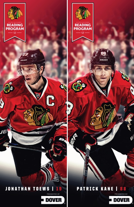 Blackhawks eading program bookmarks