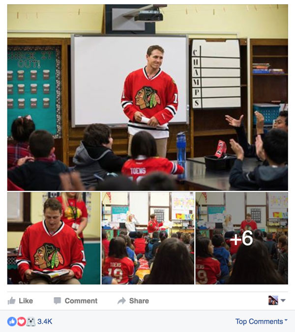 Chicago Blackhawks facebook post