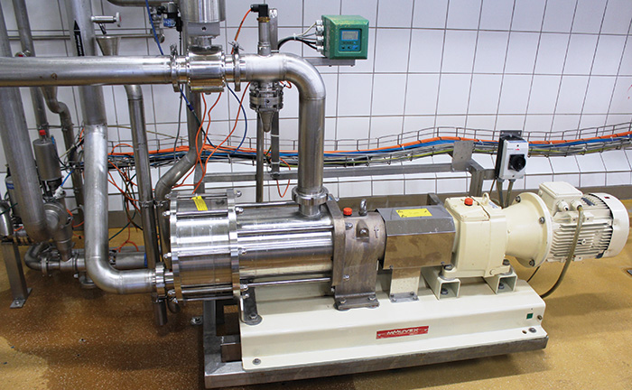An eccentric disc pump moving carbonated-beverages
